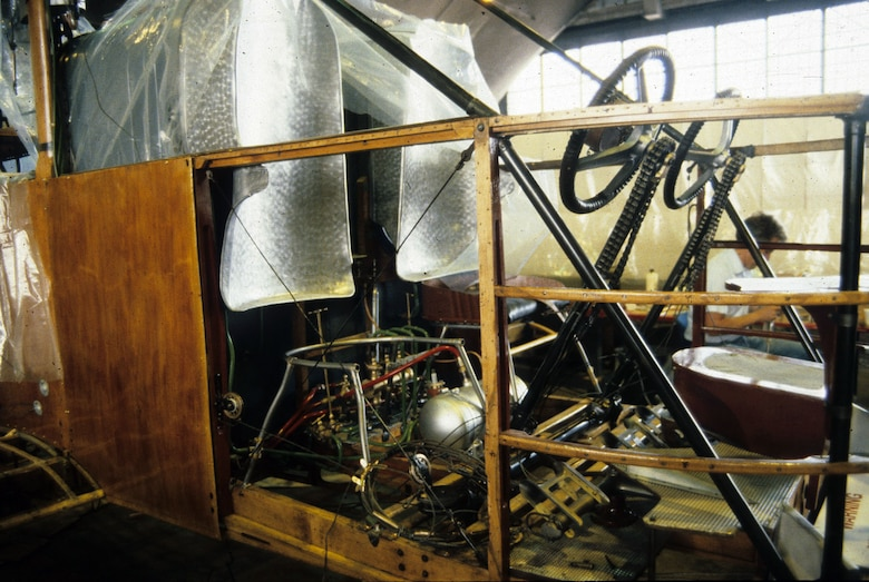 DAYTON, Ohio - The Caproni Ca. 36 bomber cockpit at the National Museum of the U.S. Air Force. (U.S. Air Force photo)