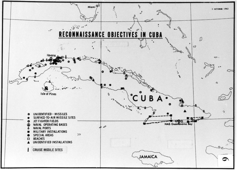 Reconnaissance objectives in Cuba, 1962. (U.S. Air Force photo)