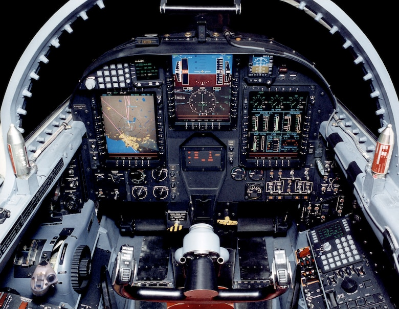 """The U-2S's """"glass cockpit"""" uses modern displays and the latest electronics to keep the pilot informed. (U.S. Air Force photo)"""