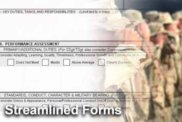 The Air Force is introducing new officer and enlisted evaluation forms as it transforms its personnel processes. (U.S. Air Force illustration/Mike Carabajal)