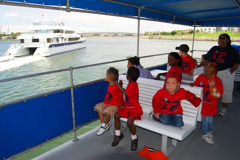 Children participating in the Youth Services LA Experience Summer Camp toured the Los Angeles Harbor by boat, July 11. The harbor cruise field trip was part of Youth Services' LA Experience Summer Camp. The summer program runs through August and includes trips to museums, beaches and a mud park. (Photo by Paul Testerman)
