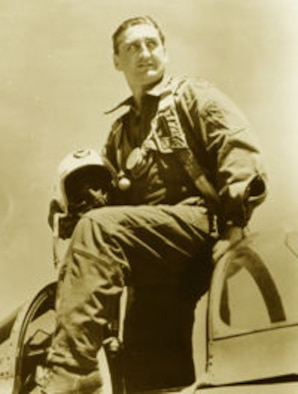 Col. Francis Gabreski became the second ace of the wing on April 1, 1952.  He was the Commander, 51st Fighter-Interceptor Wing. Col. Grabeski was an ace in two different wars, and he was the top Ace of the European Theater in World War II. (Courtesy photo)