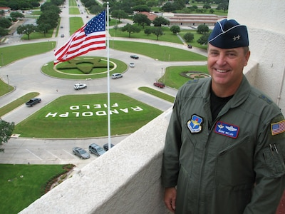 Maj. Gen. Mark Welsh III pauses while touring the observation deck of the
