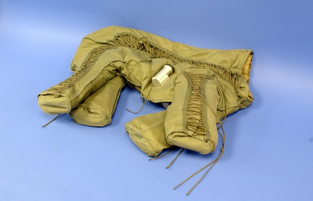 This full-pressure anti-G flight suit was designed for a dog. (U.S. Air Force photo)