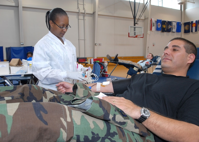 LAAFB personnel and spouses donated 75 pints of blood at the quarterly Red Cross blood drive held at the Health and Wellness Center, May 30.