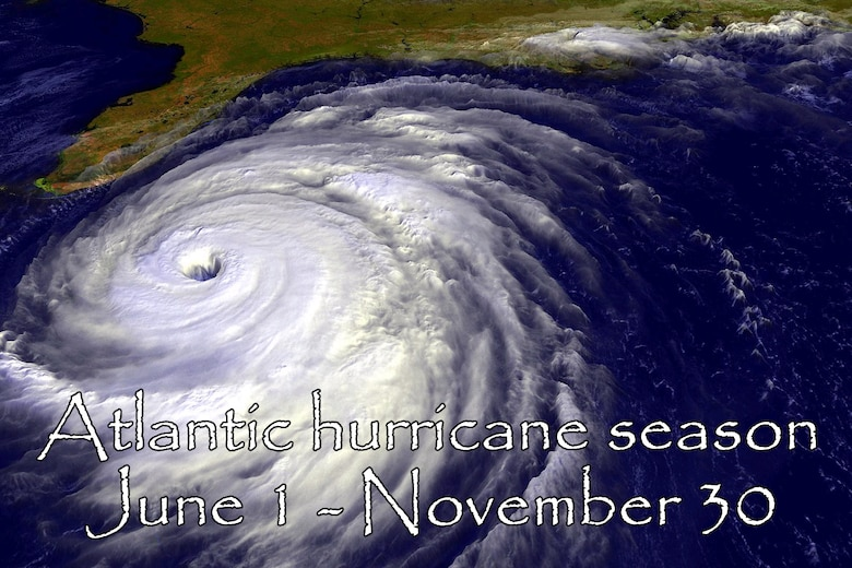 "EGLIN AIR FORCE BASE, Fla. -- The Atlantic hurricane season begins June 1 and runs through Nov. 30. Since the Atlantic Hurricane Season officially opens June 1, Team Eglin members should gear up now for what is expected to be an above average hurricane season, according to a recent advisory issued by the National Oceanic and Atmospheric Administration's National Hurricane Center. The NHC is predicting the Atlantic hurricane season to have a 75 percent chance of being an ""above average"" season. (Courtesy graphic)"