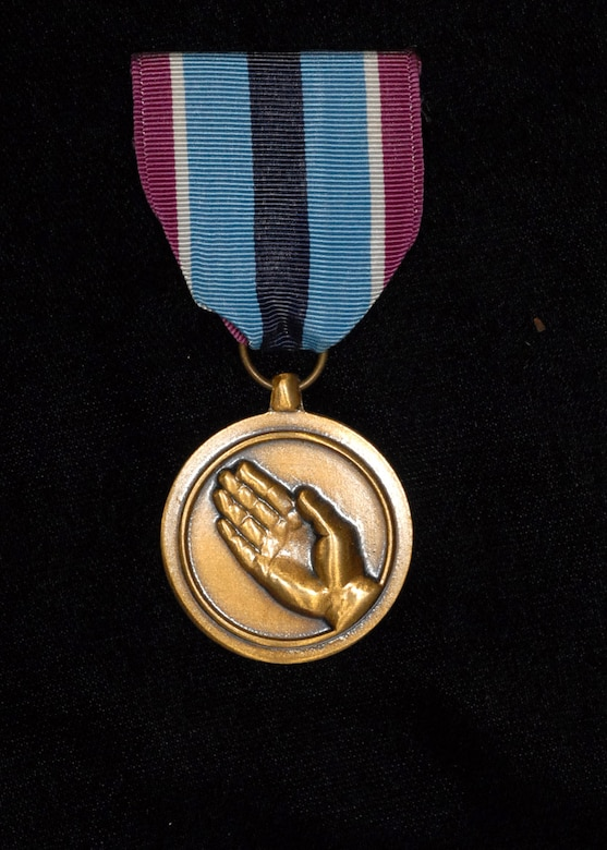Humanitarian Service Medal. (Photo by Mr. Steve White)