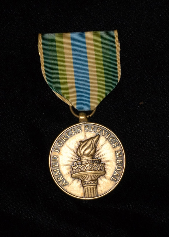 Armed Forces Service Medal. (Photo by Mr. Steve White)