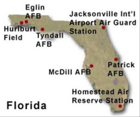 BRAC Map of Florida