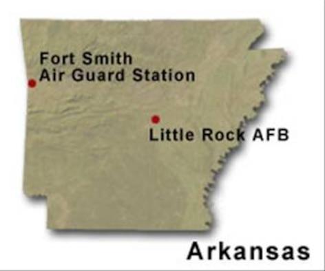 BRAC Map of Arkansas