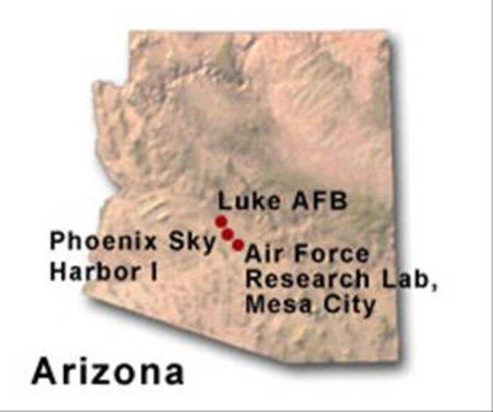 BRAC Map of Arizona