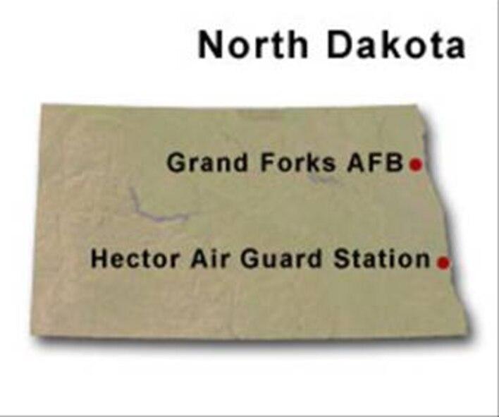 BRAC map of North Dakota