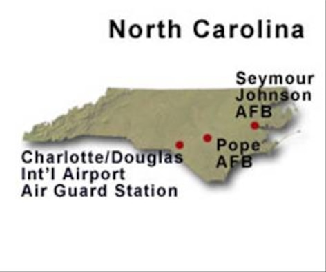 BRAC Map of North Carolina