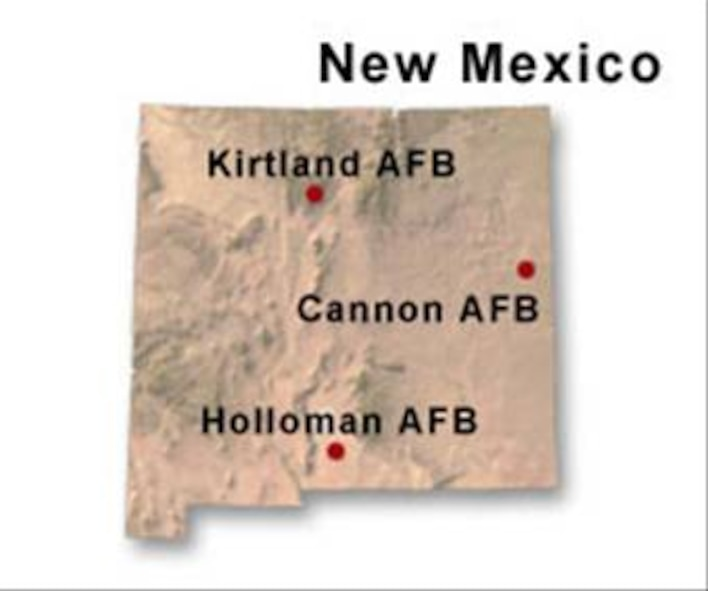 BRAC Map of New Mexico