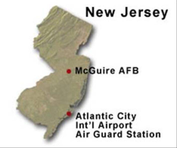 BRAC Map of New Jersey