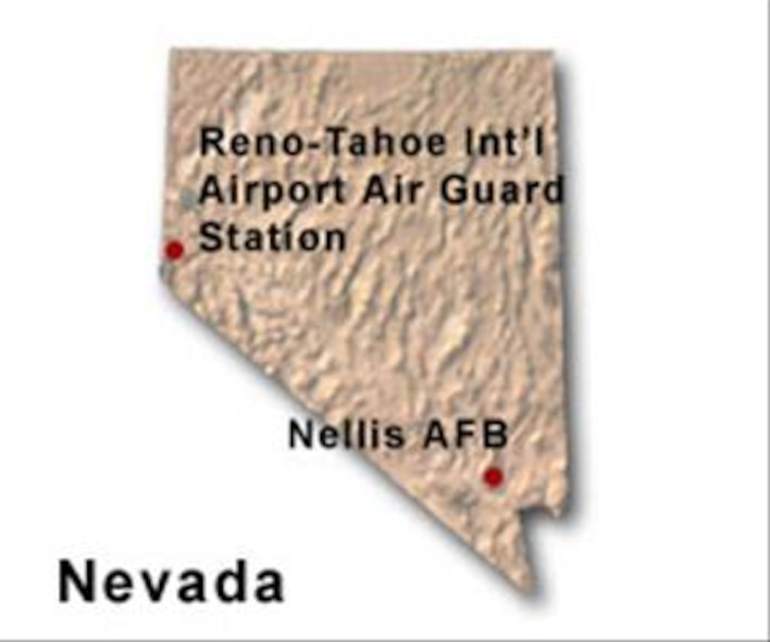 BRAC Map of Nevada
