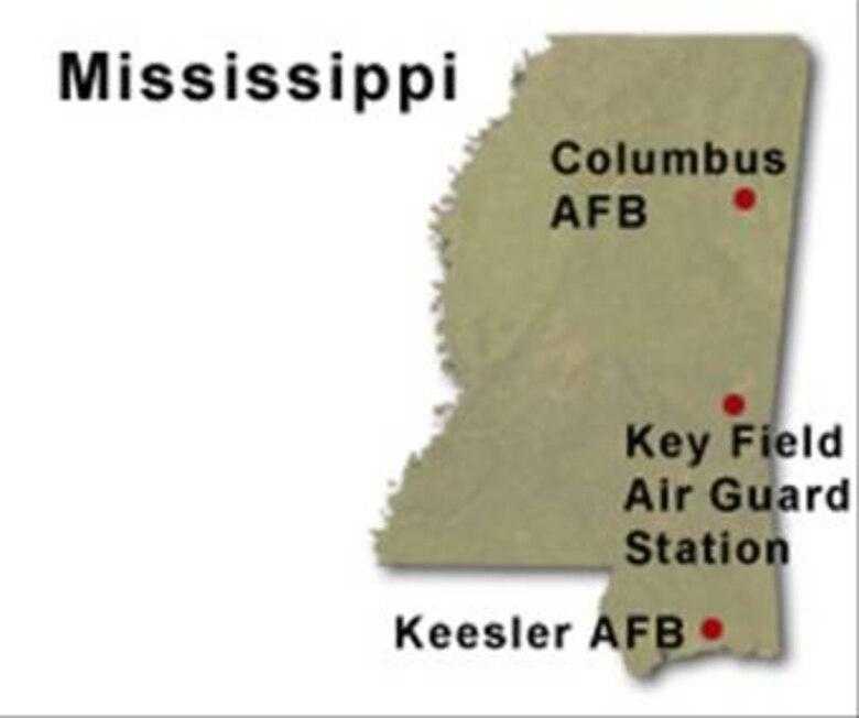 BRAC Map of Mississippi