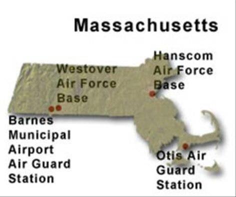 BRAC Map of Massachusetts