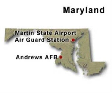 BRAC Map of Maryland
