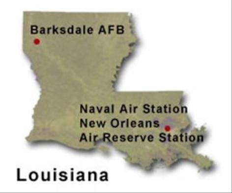 BRAC Map of Louisiana