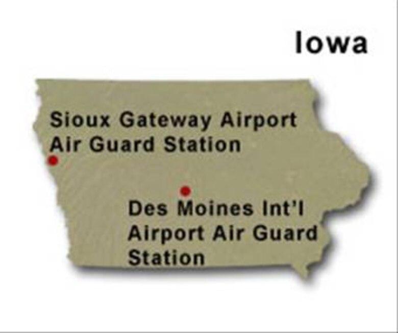 BRAC Map of Iowa