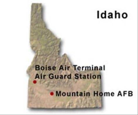 BRAC Map of Idaho