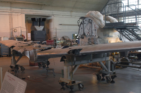 DAYTON, Ohio (06/2007) -- Japanese George in the National Museum of the U.S. Air Force's restoration hangar. (U.S. Air Force photo)