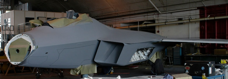DAYTON, Ohio (06/2007) -- F-22A Raptor in the National Museum of the U.S. Air Force's restoration hangar. (U.S. Air Force photo)