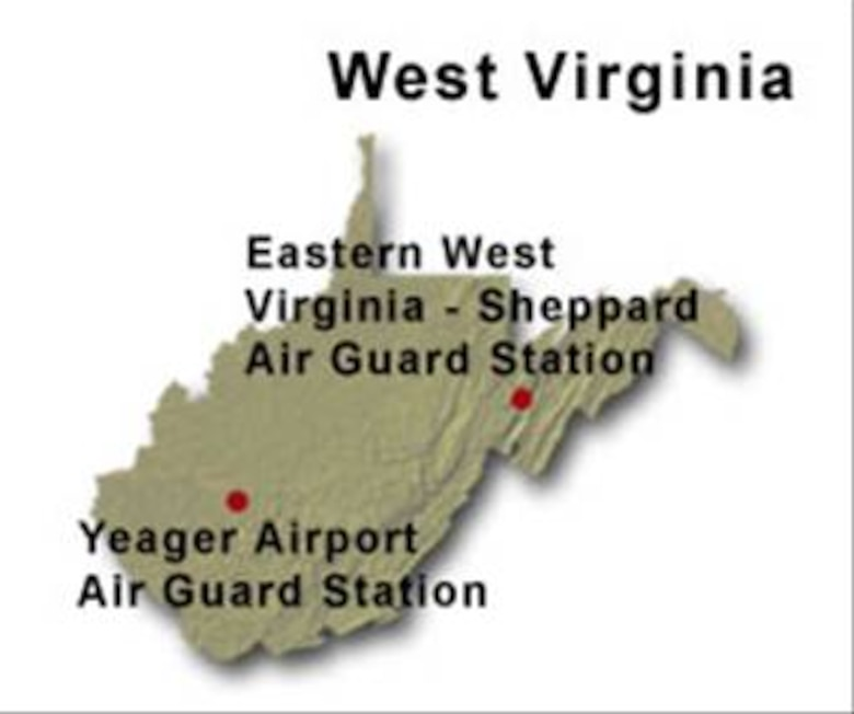 BRAC Map of West Virginia