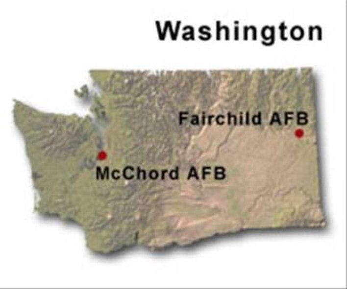 BRAC Map of Washington