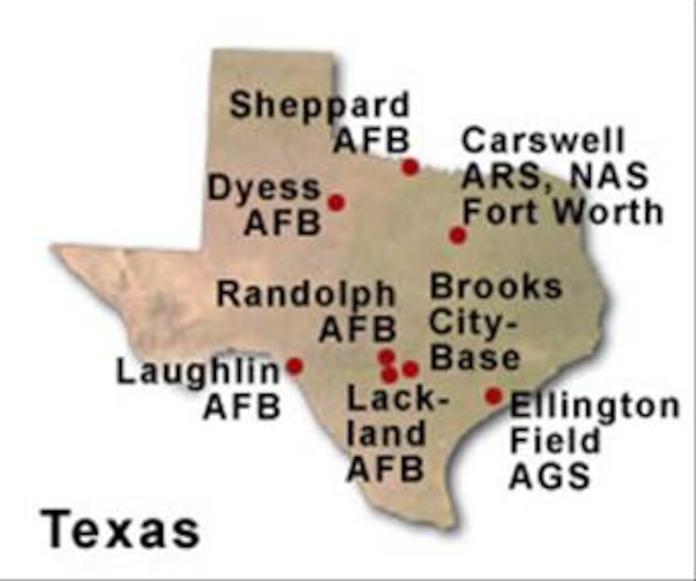 BRAC Map of Texas