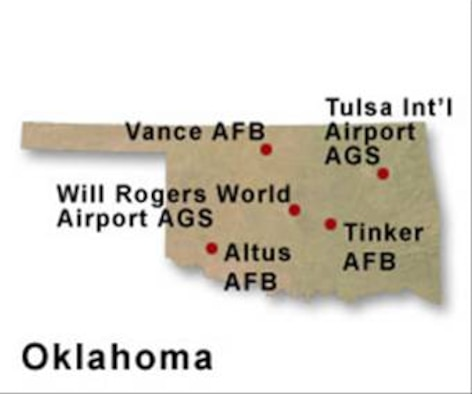 BRAC Map of Oklahoma