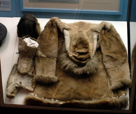 DAYTON, Ohio -- This cold weather clothing worn in the Arctic by Col. Bernt Balchen is on display in the World War II Gallery of the National Museum of the U.S. Air Force. Donated by Col. (Ret.) Bernt Balchen of Chippaqua, N.Y. (U.S. Air Force photo)