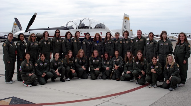 LAUGHLIN AIR FORCE BASE, Texas – Spouses affiliated with the 85th Flying Training Squadron were recently given a glimpse into their spouses world of flying. The spouses were taken through a step-by-step process of what their significant others do to prepare to complete the mission, leading up to a taxi ride in the same aircraft which their spouses flies. (U.S. Air Force photo by Airman Sara Csurilla)