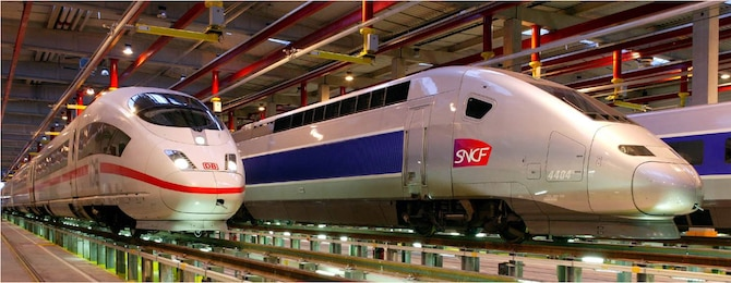 The German ICE train and the French TGV train take travelers to Paris in record times. Courtesy Photo