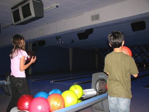 LAUGHLIN AIR FORCE BASE, Texas -- Laughlin youth participate in Cosmic Bowling at Cactus Lanes.  (Contributed photo)
