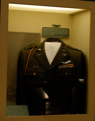 DAYTON, Ohio - Cadet issued dress coat on display in the World War II Gallery at the National Museum of the U.S. Air Force. (U.S. Air Force photo)