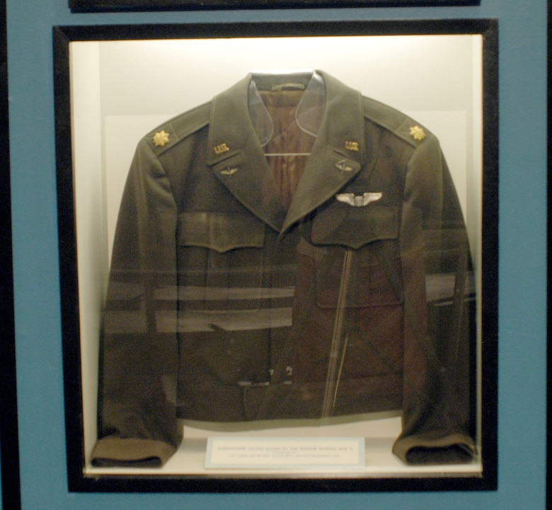 DAYTON, Ohio - Eisenhower jacket worn by Col. Gene Raymond, USAFR (Ret.), during World War II. (U.S. Air Force photo)