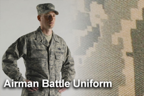 Air Force officials are cautioning Airmen about purchasing the Airman Battle Uniform that may not meet the service's stringent specifications from unauthorized commercial manufacturers. Officials said the ABU provided by its official source, Defense Supply Center Philadelphia, should be available for purchase at Army and Air Force Exchanges Service locations in October. (U.S. Air Force illustration/Mike Carabajal)