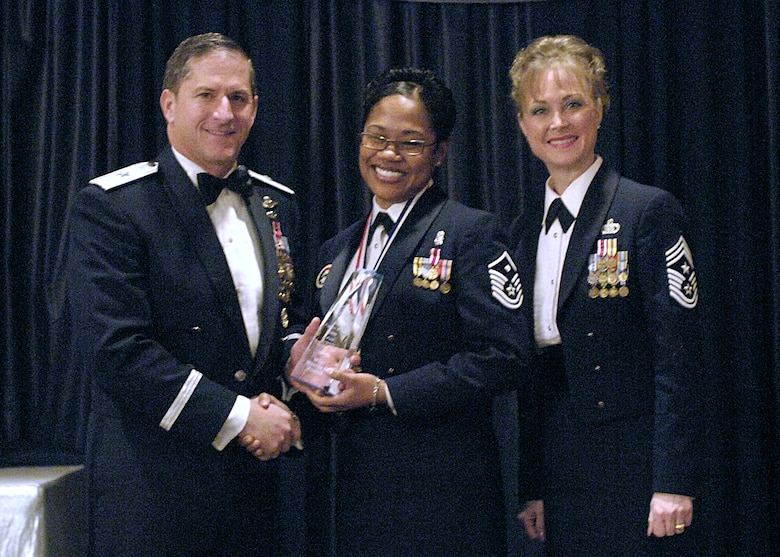 First Sergeant of the Year, Master Sgt. Mauree Powell, 49th Security Forces Squadron.