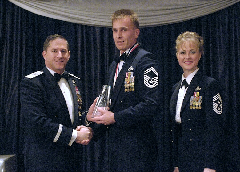 Senior NCO of the Year, Senior Master Sgt. Larry Blume, 49th Civil Engineer Squadron.