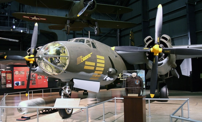DAYTON, Ohio -- Martin B-26G Marauder in the World War II Gallery at the National Museum of the United States Air Force. (Photo courtesy of Airshow Traveler)
