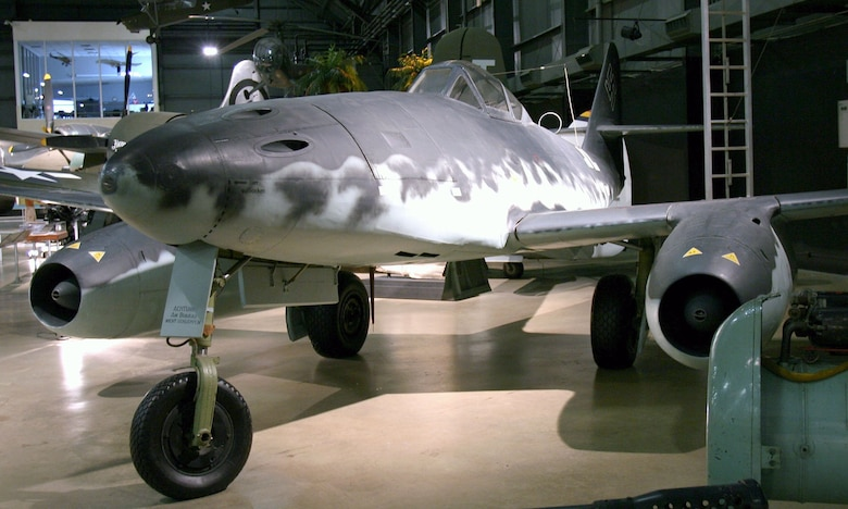 DAYTON, Ohio -- Messerschmitt Me 262A in the World War II Gallery at the National Museum of the United States Air Force. (Photo courtesy of Airshow Traveler)