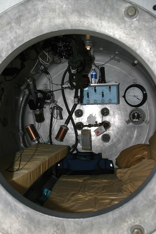 """The hyperbaric treatment works by delivering a higher concentrations of oxygen into the affected tissue areas of the body. The patient is """"sealed"""" into a closed chamber where the atmospheric pressure is increased."""