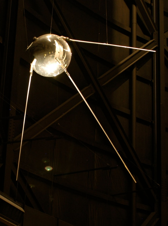 DAYTON, Ohio -- Sputnik I exhibit in the Missile & Space Gallery at the National Museum of the United States Air Force. (U.S. Air Force photo)