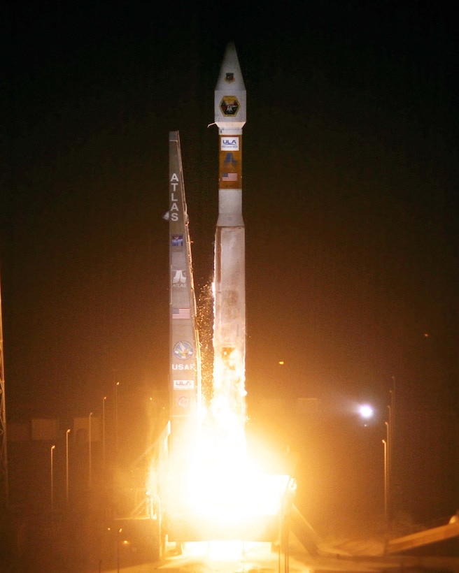 CAPE CANAVERAL AIR FORCE STATION, Fla. – Six satellites were launched into orbit on board a single Atlas V Evolved Expendable Launch Vehicle March 8. The six satellites made up an integrated payload called the Space Test Program-1. (Courtesy photo)