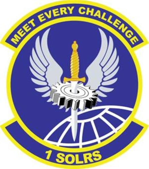 1st Special Operations Logistics Readiness Squadron emblem significance: Blue represents the sky, the primary theater of Air Force operations. Yellow signifies the sun and the excellence required of Air Force personnel. The gear cog represents the unit's logistics functions. The winged dagger signifies the unit's support to Air Force Special Operations mission. The globe denotes the support the unit provides to the command's worldwide mission.