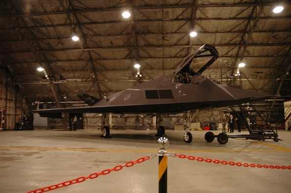OSAN AIR BASE, Republic of Korea --  Approximately 20 Republic of Korea general officers were invited out to see an F-117 sitting in a Black Cat hangar. The jet is deployed to the Korean peninsula from Holloman AFB, N.M. (U.S. Air Force photo by Senior Airman Brok McCarthy)