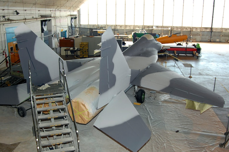 DAYTON, Ohio (02/2007) - The MiG-29A undergoing restoration at the National Museum of the U.S. Air Force. (U.S. Air Force photo by Ben Strasser)