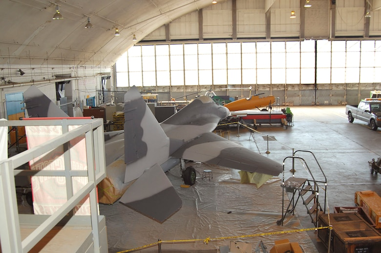 DAYTON, Ohio (02/2007) - The MiG-29A in the restoration area of the National Museum of the U.S. Air Force. (U.S. Air Force photo by Ben Strasser)